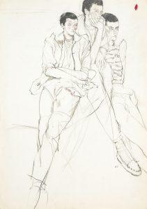 Jon F. (Three Figures Sitting), 1970-80's
