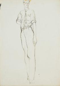 Jon F. (Standing – Cropped Figure), 1970-80's