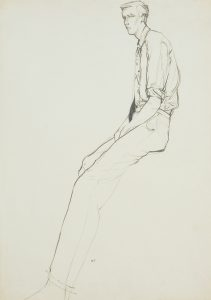 Jon F. (Sitting, Side View – With Tie), 1970-80's