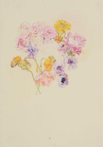 Flower Circle (Roses, Poppies, Peonies), 2018-19