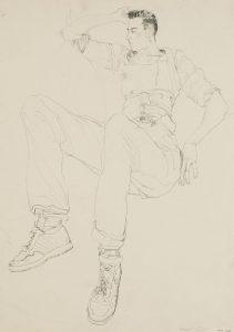 Mick H. (Sitting, Lying Back), 1980-82