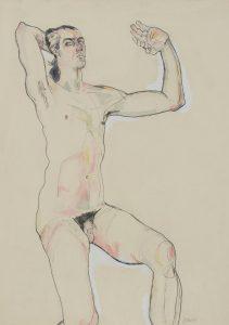 Nude (One Hand Raised Behind Head), 1980's