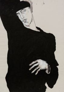 Self Portrait (Head and Hands), 1980's