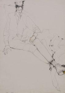 Simon (Sitting on Floor, Fabrics), 1980's
