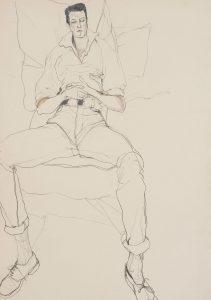 Mick Hurd (Lying Back on Pillows), 1980-82