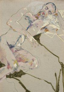 Craig (Nude on Green), 2012