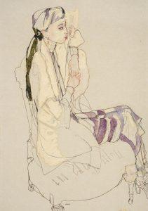 Maria N. (Side View, Purple Stripe), 2014-15