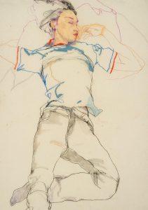 Arthur (Sleeping – Blue T-shirt, Hands on Face), 2002-05