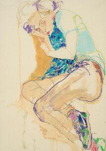 Arthur (Sleeping, Curled Up – Blue  Scarf), 2002-05