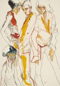 Michele, Elvis & Pamela (Four Figures), 1998