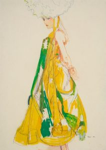 Emma (Side View – Dior Couture, St Catherine Colours, Green & Yellow), 2004