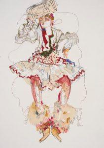 Emma (Galliano Paris – With Stephen Jones Hat – Suitcase), 2004