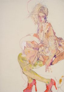 Emma (Seated with Feathers – Galliano Paris – Stephen Jones), 2004