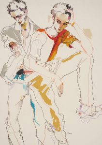 George (Two Figures – One Standing, One Sitting), 1999