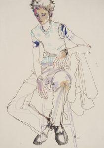 George (Sitting on Tall Stool – Full Figure), 1998-99