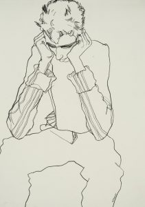 George (Hands to Head – Black Line), 1999