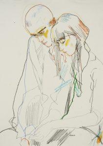 Anastasia & Lee (Half Figure, Head and Hands), 2011