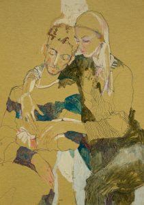 George & Katya (Blues, Blacks, Greens), 2006
