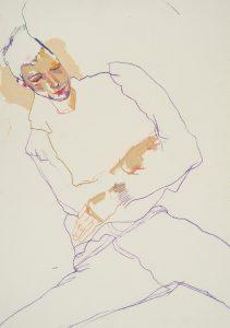 George (Lying Down, Half Figure), 2005