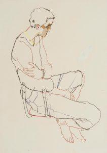 Richard N. (Seated Profile – Bead Bracelet), 1999