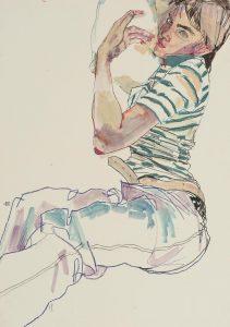 Neil G. (Lying Down – Stripe T-shirt), 1990-2001