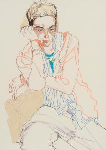 Neil G. (Sitting, Half Figure – Striped Shirt and Fluro Line), 1998-99