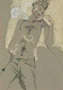 Jake W. (Lying Down – No Shirt), 2012-13