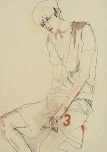 Nobu (Sitting, Face Under Left Hand), 2014-16