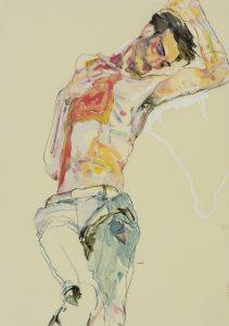 Francesco (Blue Trousers, No Shirt), 2019