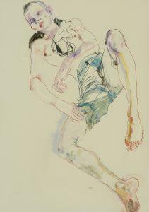 Matthew (Lying Down, Full Figure – Blue Shorts), 2018-19