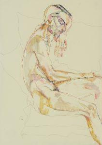 Francesco (Sitting, Profile – Nude), 2018