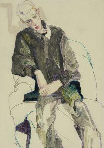 Lee Hurst (3/4 Figure, Hands Together – Black Green Suit), 2011