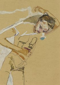 Oscar (Lying Back, Hand Behind Head, 3/4 Figure), 2013-18