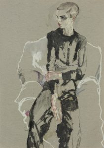 Lee Roach (Sitting – Black Top and Trousers), 2011