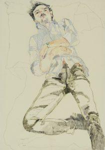 Oscar (Lying Back – Blue Stripe Shirt – Triangular Legs), 2013-18