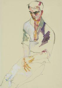 Oscar (Sitting, 3/4 Figure, Hands in Lap), 2013-18