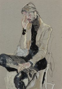 Juan (Sitting, Hand to Face, One on Ankle), 2012-13