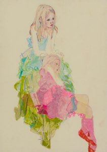 Sisters P.A. (Two Girls – Green, Pink & Blue), 2007