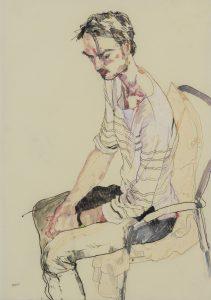 Oscar (Sitting, Profile – Black and White), 2015-16