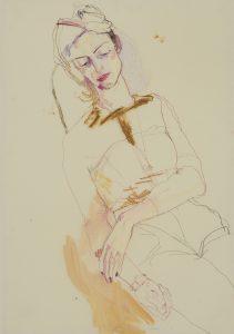 Adeline De M. (Half Figure Sketch), 2015-16