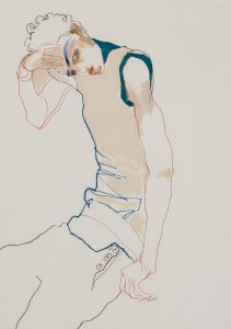 Zac Posen (Sitting, Hand on Head), 1990's