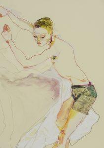 Matthew (Sprawling Over Pillows), 2019