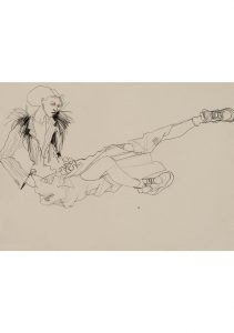 Anji (Black & White, Legs Out Stretched), 1992-95