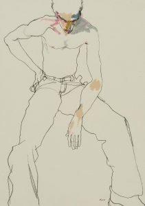 Dancer 'Jon' (Sitting, Hand on Hip), 1990's