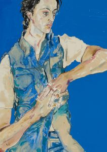 Giles Gough (hands Clasped, Blue), 1990's