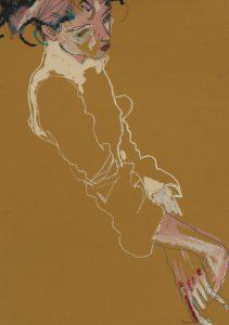 Camilla D. (Half Figure, Head and Hands – Diagonal), 1995