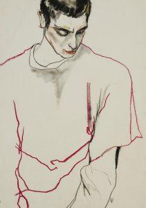 David Waddington (Head & Torso – Red & Black Line), 1990's