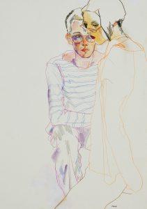 Neil & Yoshii (Glasses), 1999