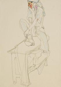Camilla (Sitting on Donkey, One Foot Up), 1992-94