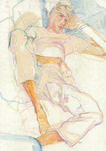 Wes Gordon (lying down), 2009-2010